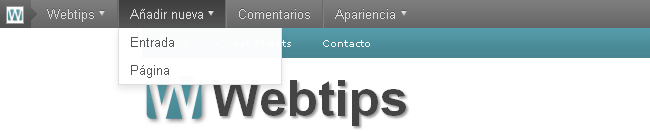 Barra de Administración (Admin Bar) en WordPress 3.1