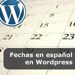 Fechas en español en Wordpress