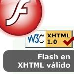 Flash en XHTML válido