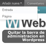 Quitar la barra de administración (Admin Bar) en Wordpress