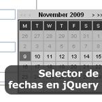 Selector de fechas en jQuery